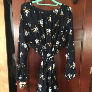 LOFT Dresses - LOFT PLUS BOUQUET DOUBLE FLOUNCE DRESS size 16